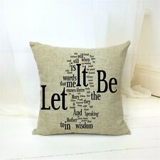 The Beatles LET IT BE Retro Music Lyrics Cover Throw Cushion Stuffed Pillow Gift