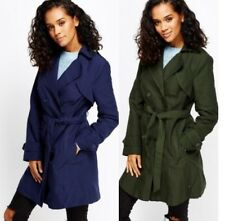 Ladies Double Breasted Trench Mac Coat Belted Fashion Jacket UK  8 , 10