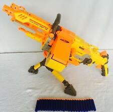 Nerf Gun N-Strike Vulcan EBF-25 Lot Tripod Belt 25 Darts Fully Automatic TESTED