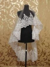 New 1.5M Lace Purfle Tulle Wedding Bridal Veil 1 layer Bride Veil 3008