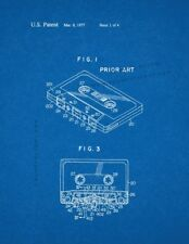 Cassette Tape Recorder With Tape Pad Patent Print Patent Print Blueprint