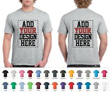 Custom 2 sided T-Shirts- Design Your Own Shirt- Add Your Image Photo Logo Text