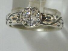 Authentic Women's Ring 925 Sterling Silver White CZ Solitaire White Color