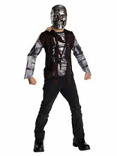 T-600 The Terminator Salvation Cyborg Movie Hunter Killers Boys Costume