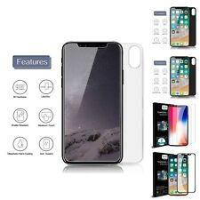 iPhone X Front Back Tempered Glass Screen Protector HD Clear Full Protection New
