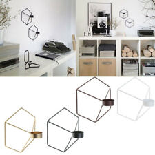 Metal Iron Frame 3D Geometric Tea Light Candle Holder Candlestick Wall Lamp