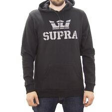 SUPRA ABOVE PULLOVER HOODIE - BLACK - FREE NEXT DAY SHIPPING