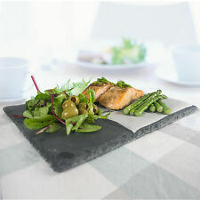 6pc Slate Food/Cheese/Tapas Board Plate Restaurant Serving Platter Dining g