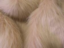 Super Luxury Faux Fur Fabric Material - LONG PILE PINK & WHITE