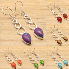 925 Silver Plated Earrings ! GEMSTONES  Highly Polished Fashion Jewelry