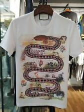 Fashion Men's Basic TEE Round Neck Snake Icon Graphic T-Shirts Summer Cotton Top