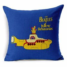 The Beatles YELLOW SUBMARINE Retro Music Album Throw Cushion Pillow Cover Gift
