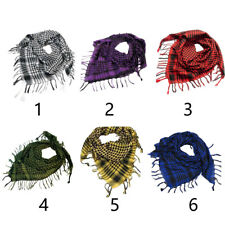 Cotton Thick Shemagh Tactical Desert Arab Scarves Windproof Plaid Printed Scarf