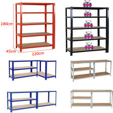 EXTRA WIDE 120/80CM 5 TIER HEAVY DUTY METAL SHELVING SHED STORAGE GARAGE RACKING