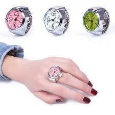New Creative Fashion Lady Girl Steel Round Elastic Quartz Finger Ring Watch