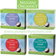 NIUGINI ORGANICS VIRGIN COCONUT OIL SOAP 100g - 4 VARIETIES