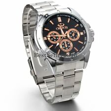 Fashion Classic Men Stainless Steel Band Sport Military Quartz Wrist Watch Gift
