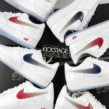 """Nike Air Force 1 Low Retro """"TAIWAN"""" 2018 AF1 White Red Navy Sneakers 845053-105"""