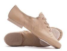 Tan Nude PU Lace Up Suede Split Sole Jazz Dance Practice Shoes By Katz All Sizes