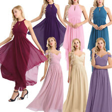 Women's Long Evening Dress Bridesmaid Prom Ball Gown Formal Cocktail Maxi Dress