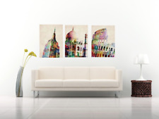 Stretched / Unstretched Roman Colosseum / Empire State / Taj Mahal Canvas