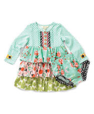 MATILDA JANE baby girls teal seedling dress matching diaper cover l/s NEW