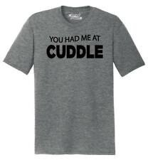 Mens You Had Me At Cuddle Cute Funny Tee Tri-Blend Tee Valentines Day Husband