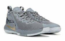 NIKE MENS LEBRON WITNESS II GREY GOLD BASKETBALL SHOES **BEST SELLER