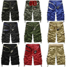 Mens Combat Military Cargo Camo Shorts Pants Work Casual Short Army Trouser