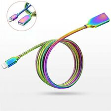 Colorful Metal Lightning/Micro USB 2.4A Charge Data Sync Cable F iPhone Samsung