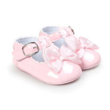 Baby Girls Shoes Bowknot Cute PU Princess Shoes for Infants Newborns Toddlers