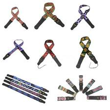 Hot Guitar Bass Strap Adjustable Polyester Belt PU Leather Ends Accessories Y2J5