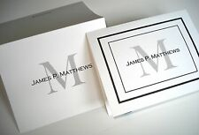 20 Personalized Custom Note Cards & Envelopes, Blank Inside Thank You Stationery