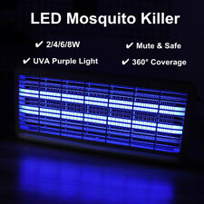 2/4/6/8W LED Electric Mosquito Killer UV Lamp Insect Pest Fly Bug Zapper Catcher