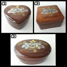 ONE - Handmade Wood Mother Pearl Inlay Inlaid jewelry Box Wooden Trinket [*]