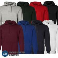 Mens Fleecy Hoodie Jumper Pullover Winter Warm Casual Pocket Size S-7XL New 3FH