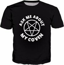 ROTS Ask Me About My Coven T-Shirt - Witchcraft Witches Halloween