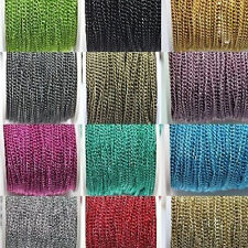 5/100M Open Link Encryption Cable Aluminum Chain 1.0x4x3mm DIY Jewelry Findings