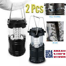 30LED Portable Outdoor Camping Lantern Bivouac Hiking Night Fishing Light Lamp *
