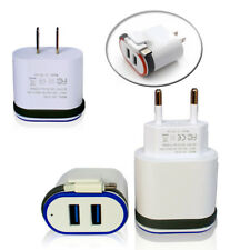 Dual Port Fast Charging USB Wall Charger Adapter with Cable For iPhone Samsung S