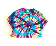 Tie Dye Crop Top Cropped T-shirt Unisex Festival 90s Grunge Hipster Summer Hippy