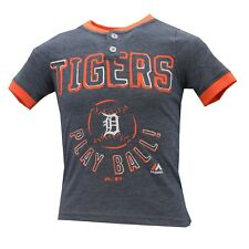 Detroit Tigers Official Majestic MLB Genuine Youth Kids Size T-Shirt New Tags