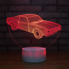 Car 3D Beside Night Light Color Change Crackle Paint Base Table Desk Lamp