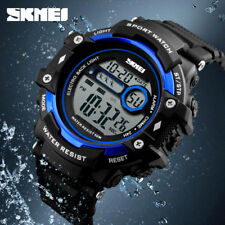 SKMEI Mens Sports Watches Water Resistance Digital LED Watch Sport Wristwatches
