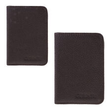 Mens Genuine Leather Clutch Wallet ID Bifold Business Card Holder Purse