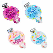 6pcs Kids Happy Birthday Party Decoration Blowouts Pink Blue 4 Style Whistles