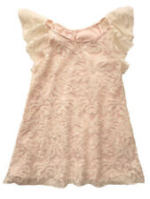 Biscotti Fairest Of All Ruffle Sleeve Ivory and Pink Girls Party Dress 5-8 NWT