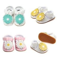 Baby Infant Kids Girl Soft Sole Flower Crib Shoes Toddler Summer Pram Sandals