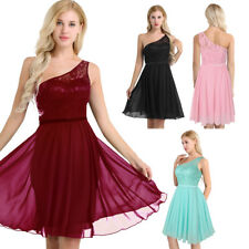 Womens Bridesmaid Lace Chiffon Dress Evening Party Formal Wedding Ball Prom Gown