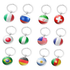 The World Cup Russia 2018 Flag Key Chain Ring Soccer Football Brazil Italy Team